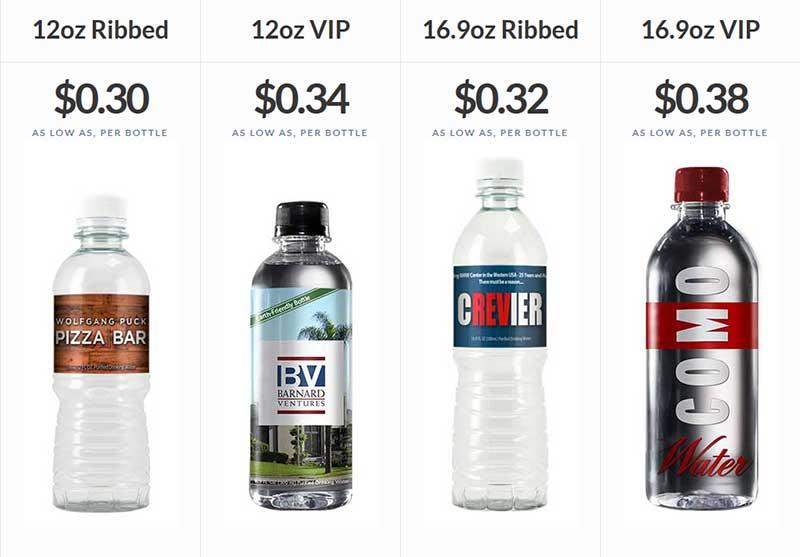 Custom Water Bottle Pricing